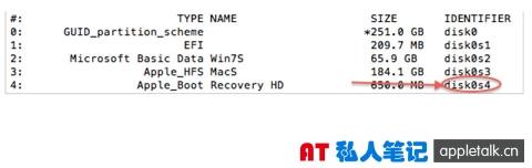 OS X中删除RecoveryHD的方法